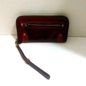 Burgundy Patent Leather Brighton Wallet
